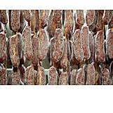 Sausages, Salami, Butcher's Shop