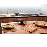 Modern, Kitchen, Dining table