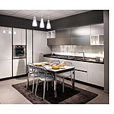 Kitchen, Dining table, Built in kitchen