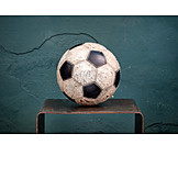 Soccer, Leather Ball, Worn