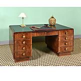 Office, Desk, Mahogany