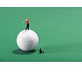 Golf Ball, Tee Box, Golf