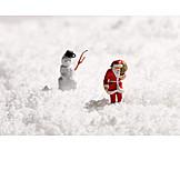 Snow, Santa Clause, Snowman
