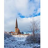 Winter, Petri Church, Rostock