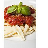 Pasta, Tomato Sauce, Capunti