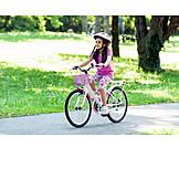 Girl, Bicycle, Cycling
