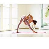 Yoga, Trikonasana, Asana, Flexibility