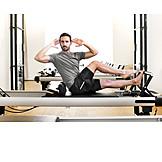 Man, Pilates, Workout
