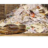 Recycled Paper, Paper Recycling, Newspaper Bundles