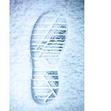Snow, Footprint, Shoe Profile