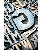 Typography, Letterpress, Font