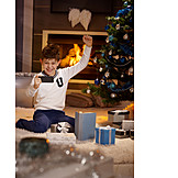 Boy, Enthusiastic, Happy, Christmas, Ecstatic, Smart Phone