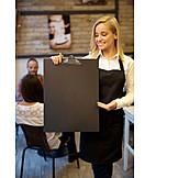 Copy Space, Waitress, Offer, Presentation