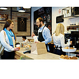 Cafe, Service, Serving, Customer, Take Out Food