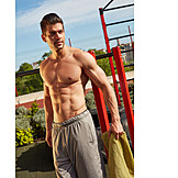 Man, Muscular Build, Buff , Naked