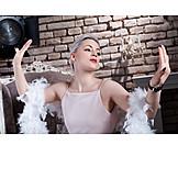 Fashion, Posing, Feather Boa, 20s, Actress