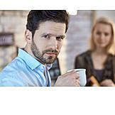 Man, Drinking, Coffee