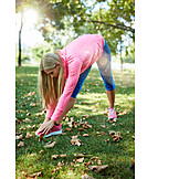 Park, Stretching, Warming Up, Workout, Runner