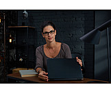 Woman, Laptop, Homeoffice
