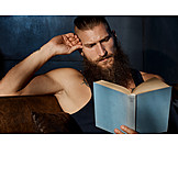 Book, Reading, Hipster