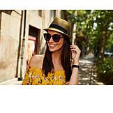 Woman, Happy, Summer, Portrait