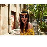 Woman, Happy, Summer, Fun