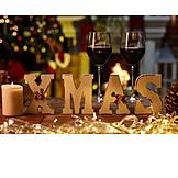 Christmas, Red Wine, Candlelight, Xmas