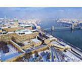 Winter, Danube River, Budapest