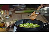 Preparation, Asparagus, Green Asparagus, Pan