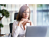 Business Woman, Thinking, Workplace, Entrepreneur