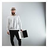 Man, Hat, Laptop, Cool, Cool