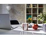 Home, Laptop, Desk, Study