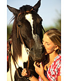 Happy, Horse, Animal Love, Horsewoman