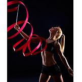 Ribbon, Dancer, Gymnast, Gymnastics