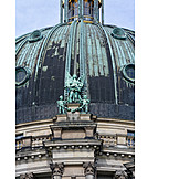 Berlin cathedral, Dome roof, Sculpture