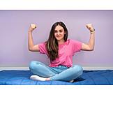 Teenager, Energy, Powerful, Strong, Cross-legged