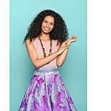 Woman, Fashion, Multi Colored, Skirt