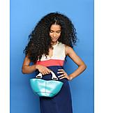 Woman, Fashion, Dress, Purse, Outfit, Handbag