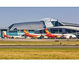 Airplane, Airport, Guangzhou