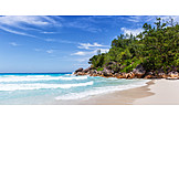 Beach, Indian Ocean, Praslin