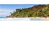 Beach, Coast, Indian Ocean, Praslin