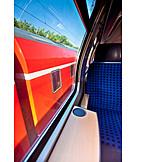 Train, Window, Oncoming traffic