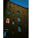 House, Window, Illuminated