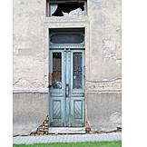 House, Decay, Front Door