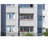 Domestic Life, Balcony, Tenement Block
